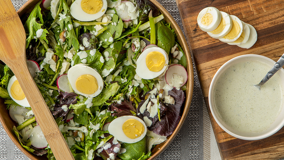 Spring Salad with Fennel and Eggs